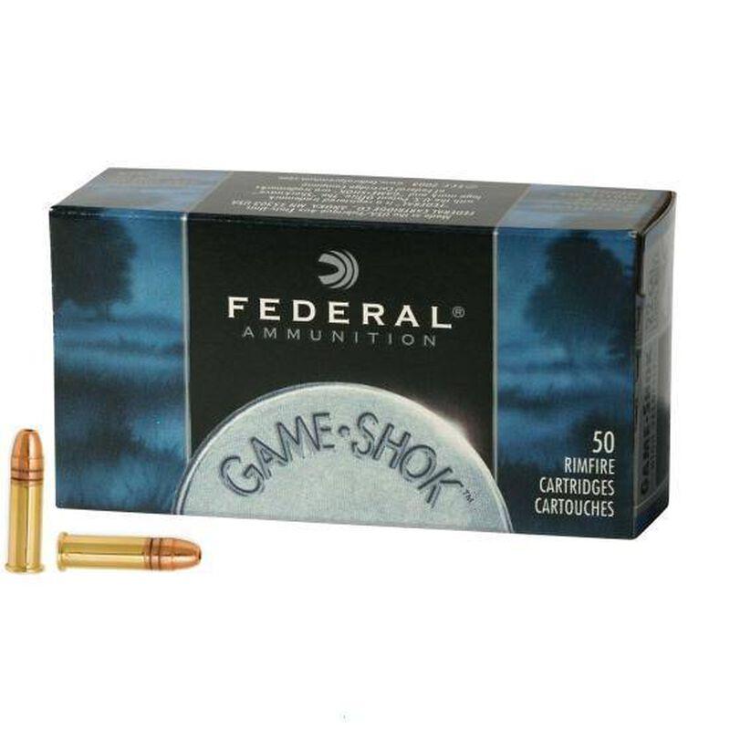 Federal .22LR Ammunition 50 Rounds, Game-Shok CPHP, 31 Grains