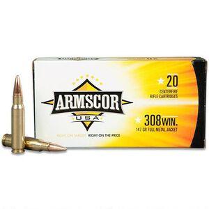 Armscor USA .308 Winchester Ammunition 200 Rounds FMJ 147 Grains F AC 308-1N