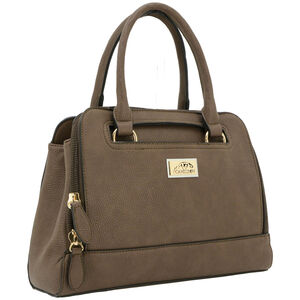 """Cameleon Belladonna Purse with Concealed Carry Gun Compartment 13""""x10""""x4"""" Synthetic Leather Brown"""