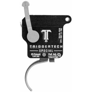 Trigger Tech Remington 700 Special Drop In Replacement Trigger Right Hand/Bolt Release/Curved Lever Stainless Steel Finish