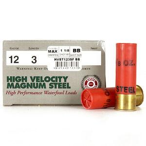 "Estate Cartridge High Velocity Magnum Steel 12 Gauge Ammunition 250 Rounds 3"" #BB Steel 1-1/8 oz 1500 fps"