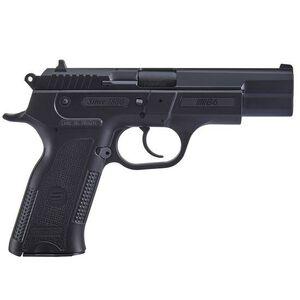 "Sarsilmaz B6 Semi Auto Pistol 9mm Luger 4.5"" Barrel 17 Rounds Fixed Sights Manual Thumb Safety External Hammer Polymer Frame Black Finish"