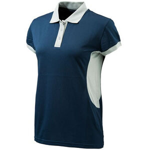 Beretta Special Purchase Women's Silver Pigeon Polo Short Sleeve 2XL Cotton Navy Blue and Silver