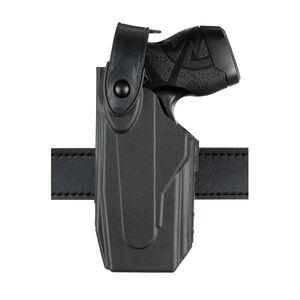 Safariland Model 7520 Axon Taser X26/X26P 7TS SLS EDW Clip-On Belt Holster Left Hand SafariSeven Plain Black