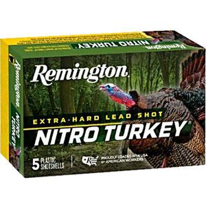 "Remington Nitro Turkey 12 Gauge Ammunition 5 Rounds 3"" Shell #5 Lead Shot 1-7/8oz 1210fps"