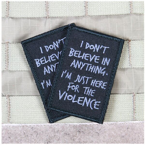 """Violent Little Machine Shop Here for the Violence Morale Patch 3""""x2"""" Velcro Black and Gray"""