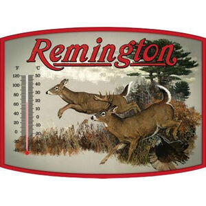 "Open Road Brands ""Remington Whitetail"" Thermometer Tin Sign 14""x10.3"""