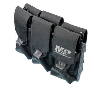 """Battenfeld Technologies Pro Tac 6 AR/AK Magazine Pouch with M&P Logo 11.125"""" x 7.75"""" x 6"""" MOLLE Compatible Black"""