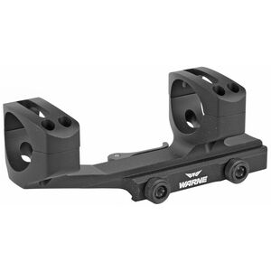 Warne Scope Mounts XSKEL One Piece Quick Detach AR-15 Skeletonized Scope Mount 30mm Tube Diameter QD Throw Levers Lightweight 6061 Aluminum Matte Black