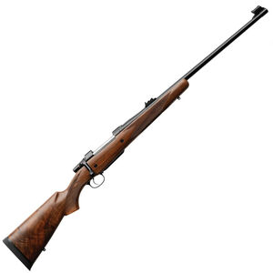 "CZ 550 American Safari Magnum Bolt Action Rifle .375 H&H Magnum 25"" Barrel 5 Rounds Express Sights American Style Shaped Turkish Walnut Stock Blued Finish"