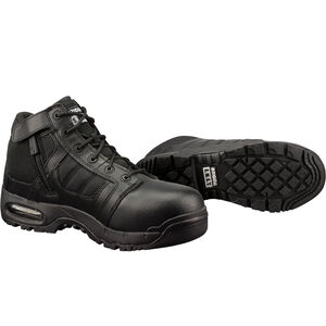 "Original S.W.A.T. Metro Air 5"" SZ Safety Men's Boot Size 10 Wide Non-Marking Sole Leather/Nylon Black 126101W-10"