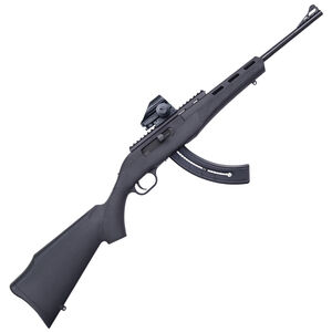 "Mossberg Blaze Semi Auto Rimfire Rifle .22 Long Rifle 16.5"" Barrel 26 Rounds Synthetic Stock Dead Ringer Green Dot Sight Blued Finish 37316"