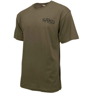 Sako/Beretta Old Skool Short Sleeve T-Shirt 3X-Large Retro Sako Logo Cotton Army Green