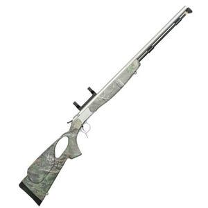 "CVA Optima V2 LR Thumbhole Muzzleloader Rifle with Scope Mount  Break Action In-Line .50 Caliber 209 Primer Ignition 28"" Barrel Composite Stock Realtree Xtra Green"