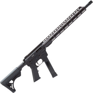 """Freedom Ordnance FX-9 Carbine 9mm Luger AR Style Semi Auto Rifle 16"""" Barrel 33 Rounds Uses GLOCK Style Mags 13"""" Freefloat M-LOK Handguard Collapsible Stock Black"""