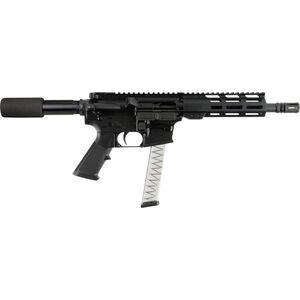 "I.O. Inc M215 AR Style Semi Auto Pistol 9mm Luger 7.5"" Barrel GLOCK Magazine Compatible Free Float M-LOK Hand Guard Hard Coat Anodized Matte Black Finish"