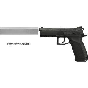 "CZ USA P09 Suppressor Ready Semi Auto Handgun 9mm Luger 5.15"" Threaded Barrel 19 Rounds Polymer Frame Black Nitride Finish 91640"