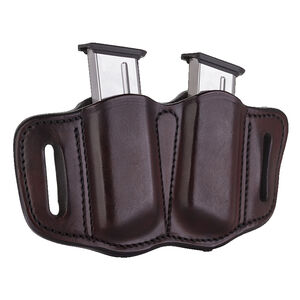 1791 Gunleather Single Stacked Magazine Double Magazine Pouch 2.1 OWB Ambidextrous Leather Signature Brown
