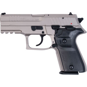 """FIME Group Rex Zero 1CP Compact Semi Auto Pistol 9mm Luger 3.85"""" Barrel 15 Rounds Metal Frame Nickel Finish"""