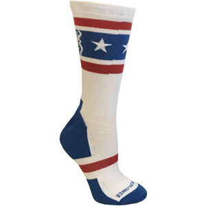 Browning Unisex America Red White and Blue Socks Medium Calf Height Polyester