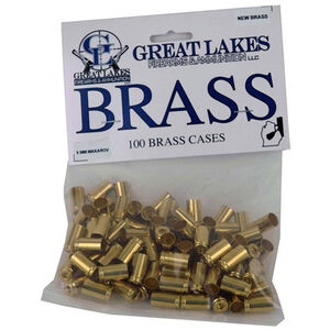 Great Lakes Bullets and Ammunition 9x18mm Makarov New Unprimed Brass 100 Pack B687672