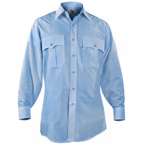 "Elbeco Paragon Plus Men's Long Sleeve Shirt Neck 16.5 Sleeve 35"" Polyester Cotton Blue"
