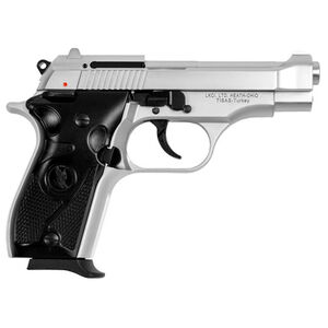 "LKCI Fatih 13 .380 ACP Semi Auto Pistol 3.9"" Barrel 12 Rounds Fixed Sights Beretta 84 Style Clone Alloy Construction Silver Finish"