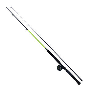 Lews Fishing Slab Daddy Crappie Jiggin' Combo MC1 1:1 Gear Ratio 9' Length 2 Piece Rod Light Power