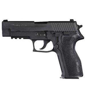 "SIG Sauer P226 Nitron Semi Auto Pistol 9mm Luger 4.4"" Barrel 10 Rounds SIGLite SIG Rail E2 Grips Stainless Steel Slide/Alloy Frame Nitron Black Finish"