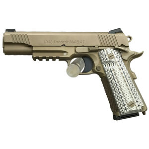 "Colt 1911 CQB Custom Shop .45 ACP Pistol 5"" National Match Barrel 8 Rounds Flat Dark Earth Cerakote Finish"