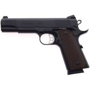 "Regent P45 .45 ACP 1911 Government Size Semi Auto Pistol 5"" Barrel 8 Rounds Black Cerakote"
