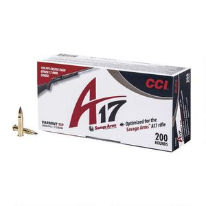 CCI A17 .17 HMR Ammunition 2,000 Rounds Varmint Tip 17 Grain 2,650 Feet Per Second