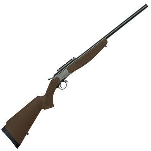 "CVA Hunter Compact Single Shot Break Action Rifle .308 Winchester 22"" Threaded Barrel DuraSight Scope Rail Mount Synthetic Forend/Stock Brown Finish"