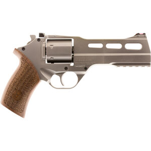 "Chiappa White Rhino 50SAR Revolver 357 Mag 6"" Barrel 6 Rounds Wood Grip Nickel Plated Finish"