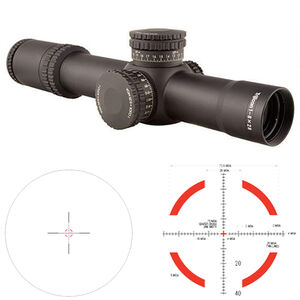 Trijicon AccuPower 1-8x28 Riflescope Illuminated Segmented Circle Crosshair Red LED Reticle First Focal Plane 34mm Tube .25 MOA Adjustments CR2032 Battery Aluminum Housing Matte Black
