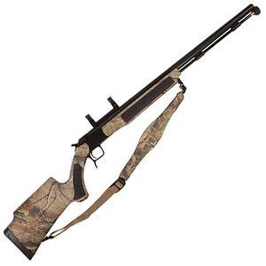 "CVA Accura V2 Nitride Barrel Break Action Black Powder Rifle .50 Caliber 27"" Barrel Dead On Scope Mount RealTree APG Synthetic Stock Black Nitride Finish PR3125NM"