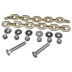 AR-Mor Chain Hanging Set Two 12 Link Chains/Bolt/Nuts/Washers Zinc Plated Natural Finish