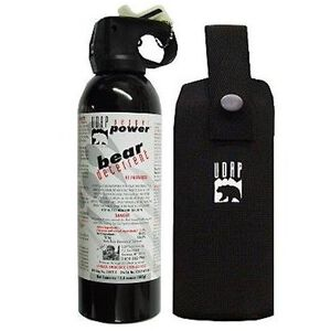 UDAP Industries Super Magnum Bear Spray 13.4 Ounce with Belt Holster 380CP