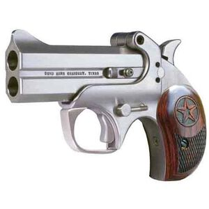 """Bond Arms Century 2000 .357 Magnum 3"""" Barrel 2 Rounds Break Action Stainless Steel Rosewood Grips Brushed Stainless Finished C2K357"""
