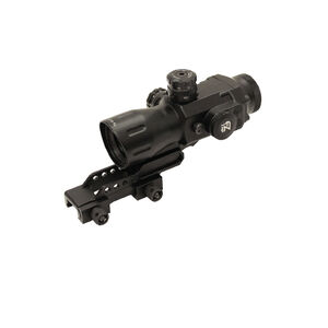Leapers UTG AccuShot 4x32 Compact Prismatic T4 Scope 36 Color Illuminated T4 Circle-dot Reticle Black SCP-T4IECDQ