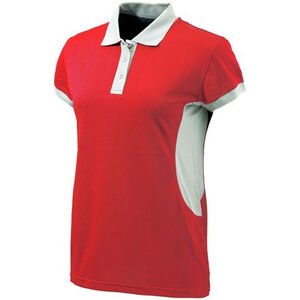 Beretta Special Purchase Women's Silver Pigeon Polo Short Sleeve Large Cotton Red and Silver