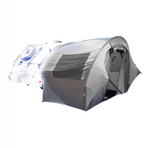 PahaQue TAB Trailer Side Tent Silver Gray with Silver Trim