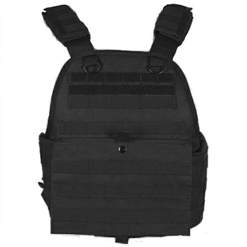 NcSTAR Plate Carrier Vest Size Med to 2XL Nylon Black