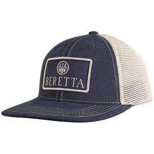 Beretta Truckers Cap Flat Bill Mesh Back OSFM Navy Blue
