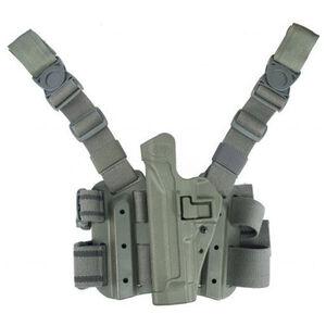BLACKHAWK! SERPA Beretta 92, 96, M9, Taurus PT-92 Level 2 Tactical Holster Polymer/Nylon Right Hand Olive Drab 430504OD-R