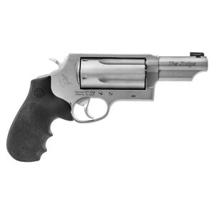 """Taurus Judge Magnum .45 Long Colt/.410 Bore Double Action Revolver 3"""" Barrel 3"""" Chamber 5 Rounds Ameriglo Night Sight Hogue Grip Matte Stainless Steel Finish"""