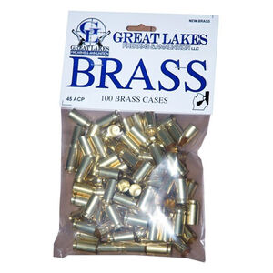 Great Lakes Firearms and Ammunition .45 ACP New Unprimed Brass 100 Pack B687399