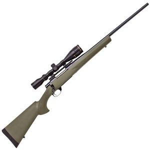 "Howa Hogue GameKing Package Bolt Action Rifle .243 Win 22"" Barrel 4 Rounds Green Synthetic Stock Blued with  Nikko Stirling 3.5-10x44 AO Scope HGK62108+"