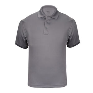 Elbeco UFX Tactical Polo Men's Short Sleeve Polo Large 100% Polyester Swiss Pique Knit Gray