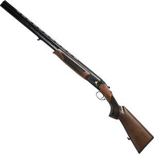 "Iver Johnson 600 O/U Break Action Shotgun 12 Gauge 28"" Barrel 3"" Chamber 2 Rounds Engraved Black Chrome Receiver Walnut Stock Black Finish"